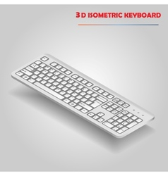 White 3d computer keyboard vector image