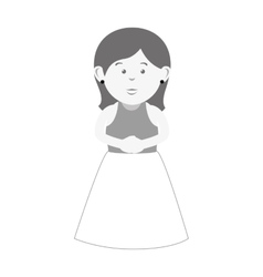 wife character with married suit vector image