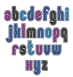 Binary striped distinct font geometric bold bright vector