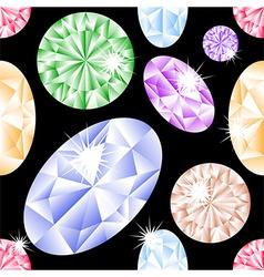 Diamond seamless pattern vector image