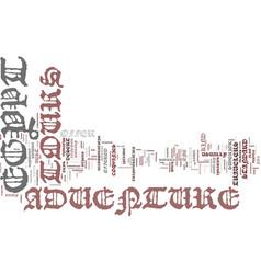 Egypt adventure tours text background word cloud vector