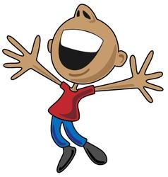 Happy Cartoon Man Jumping for Joy vector image vector image