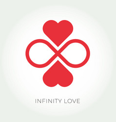 infinity love logo valentine and relationship icon vector image