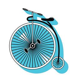 Vintage bike type 2 vector image vector image