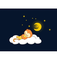 cat sleeping vector image vector image