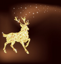 magic Christmas reindeer vector image