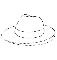 male hat summer icon vector image