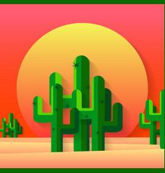 mexican desert flat vector image vector image