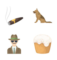travel detective and other web icon in cartoon vector image vector image