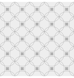 Black and white seamless geometric pattern vector image vector image