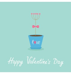 Happy Valentines Day Love Flat design Blue vector image