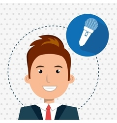 man microphone audio speak vector image