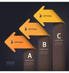 Modern arrow origami style vector image vector image