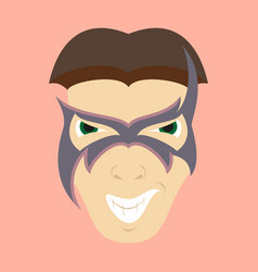 Superhero in action superhero character icon in vector