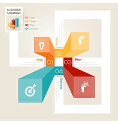 Business Strategy Design Layout vector image vector image