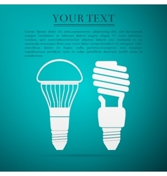 CFL Fluorescent and LED Light Bulbflat icon on vector image