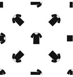 tshirt pattern seamless black vector image vector image