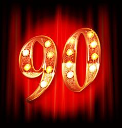 90th anniversary logo vector