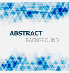 Abstract blue triangle overlapping background vector