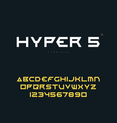 abstract futuristic space font vector image