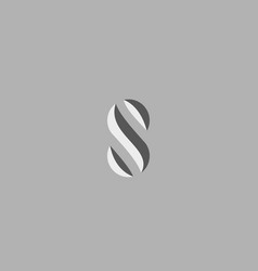 Abstract letter s logo design abc creative vector