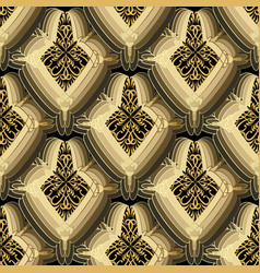 abstract vintage floral seamless pattern modern vector image