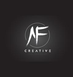 Af brush letter logo design artistic handwritten vector