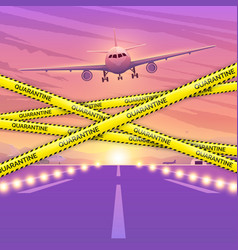 airplane flying in sky the concept the vector image