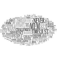 Are you an mlm casualty text word cloud concept vector