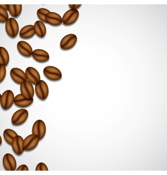 Background with coffee beans vector image