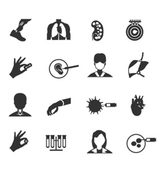 Bioengineering Icon Set vector