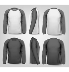 Black and white male long sleeved shirts with vector