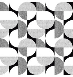 Black-white geometric textured seamless pattern vector