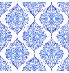 blue colorful ottoman ethnic curly ornament vector image