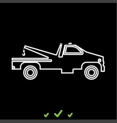 breakdown truck it is white icon vector image