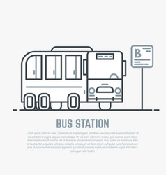 Bus station line vector