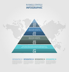 Business infographics pyramid steps strategy vector
