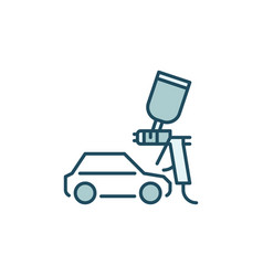 car and paint sprayer concept colored icon vector image