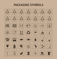 cartoon packaging symbols element card poster vector image