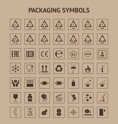 cartoon packaging symbols element card poster vector image