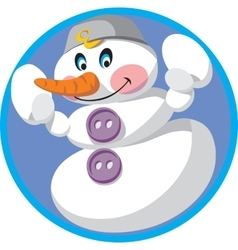 Cartoon Snowman 01 vector image