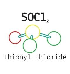 Cl2SO thionyl chloride molecule vector image