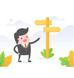 Confident businessman making decision vector