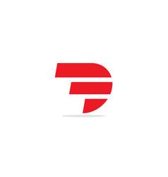 d shape line initial company logo vector image