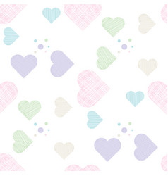 delicate love print pastel seamless pattern with vector image