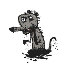 Dirty rat comic vector