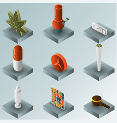 drugs color gradient isometric icons vector image