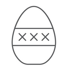 Egg masturbation thin line icon sex toy and adult vector