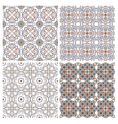 floral seamless mosaic tile ceramic vector image