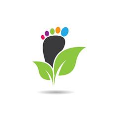 Foot therapist logo icon vector